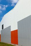 Abstract warehouse wall exterior Royalty Free Stock Image