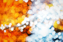 Abstract warm blurred lights. Background Stock Image