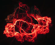 Abstract warm flame background Stock Photography