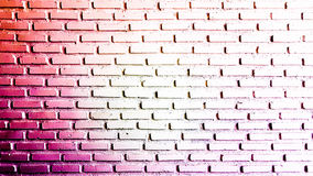 Abstract warm red and white on brick wall Royalty Free Stock Images