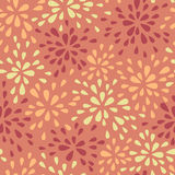 Abstract warm seamless pattern. With floral motif of drops Stock Image