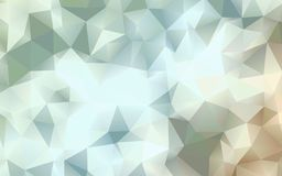 Abstract warm white polygon wallpaper Royalty Free Stock Photos
