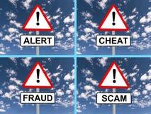 Abstract warning signs Stock Photography