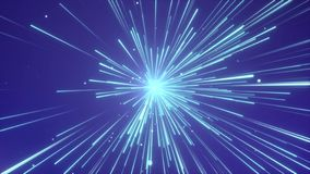 Abstract of warp or hyperspace Motion in Blue Line interstellar travel loop backgroud stock video footage