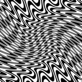 Abstract Warped Black and White Lines Background Stock Image