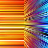 Abstract warped orange and blue stripes Royalty Free Stock Photo