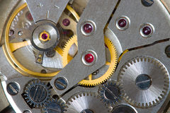 Abstract watch mechanism Stock Photography