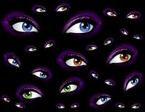 Abstract Watching Eyes Background Stock Photography