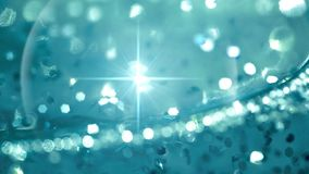 Abstract water with bubbles and lense flare shine stock video