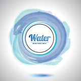 Abstract water circle element. Stock Photo