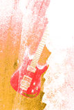 Abstract Water Color Guitar Background Royalty Free Stock Images