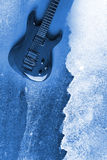 Abstract Water Color Guitar Background. Abstract Modern Water Color Electric Guitar Background Royalty Free Stock Photo