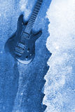 Abstract Water Color Guitar Background Stock Image
