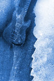Abstract Water Color Guitar Background. Abstract Modern Water Color Electric Guitar Background Stock Photo