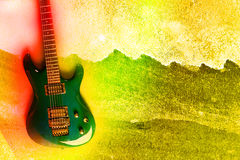Abstract Water Color Guitar Background Royalty Free Stock Photos