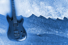 Abstract Water Color Guitar Background. Abstract Modern Water Color Electric Guitar Background Stock Images