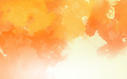 Abstract Water Color,Orange paint. Abstract Water Color,Orange paint Stock Image