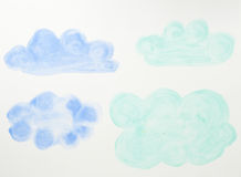 Abstract Water Color Paint Stock Photo