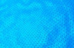 Abstract water driehoekig patroon Stock Foto
