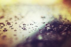 Abstract water drop, selective focus, vintage style Royalty Free Stock Photos