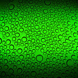 Abstract water drops on green background Royalty Free Stock Images
