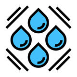 Abstract water drops symbol design Stock Images