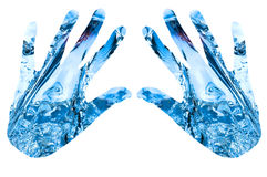 Abstract Water hands Royalty Free Stock Photo