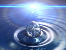 Abstract water head Royalty Free Stock Images