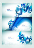 Abstract water headers with splash Stock Photos