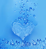 Abstract water heart Royalty Free Stock Photography