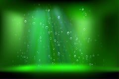 Abstract water met luchtbellen Vector illustratie Royalty-vrije Stock Afbeelding