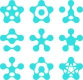 Abstract water pentagonal molecule  logo template  Stock Photo