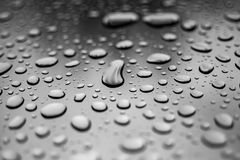 Abstract water or rain drops transparent background, wallpaper c. Abstract black and white water or rain drops transparent background, wallpaper close-up Royalty Free Stock Image