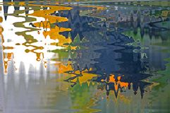 ABSTRACT WATER REFLECTION EFFECT. Abstract wave patterns resembling water reflection Stock Photos