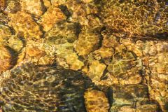 Abstract Water reflection , water in the stream Stock Photos