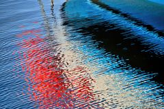 Abstract Water Reflections Stock Photography
