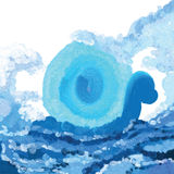 Abstract water sea painting. Illustration abstract painting abstract magic power sea water blue white color background Stock Images