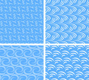 Abstract water seamless patterns Stock Image