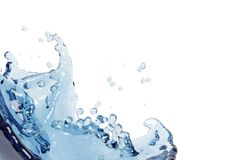Abstract water, splash Royalty Free Stock Photo