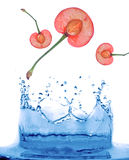 Abstract water splash background. Cherry, clean, clear Royalty Free Stock Photos