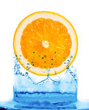 Abstract water splash background. Alive aqua background blue citrus clean clear cold colour Stock Photo