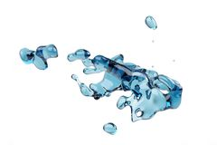 Abstract water, splash and bubble liquid Royalty Free Stock Photos