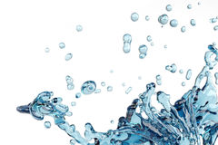 Abstract water splash and bubble liquid Stock Images