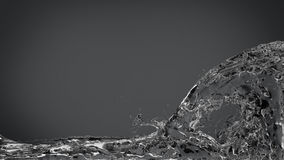Abstract Water Splash on Elegant Dark Gray Stock Photography