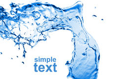 Abstract water splash isolated Stock Photography