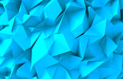 Abstract water triangular pattern. 3d render Royalty Free Stock Photos