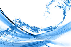 Abstract Water wave background Stock Images
