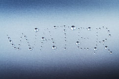 Abstract water word Stock Photography