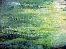 Abstract Watercolor 1. Textured watercolors in green and blues Stock Image