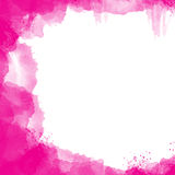 Abstract watercolor. Abstract pink watercolor background with space for your text Stock Image